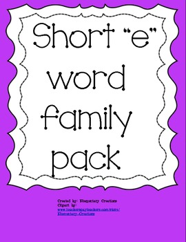 "Short ""e"" fun pack!"
