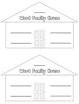 Short e & i  CVC Word Families Write-the-Room in B & W