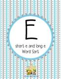 "Short ""e"" or Long ""e"" Sort"