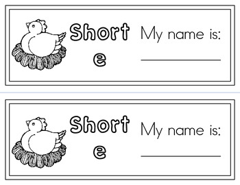Short e phonics workbook