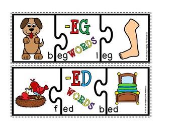 Short e puzzles(flash freebie)