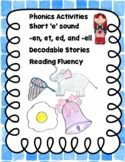 Short e family words, Decodable Stories and Reading Fluency!