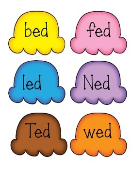 Short e word sort literacy center - et, en, ed - CCSS Aligned - Kindergarten