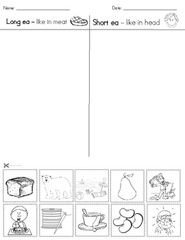 Short ea and long ea picture sort