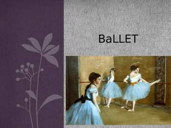 Short history of ballet