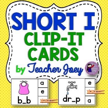 Short i Clip Cards