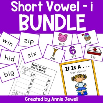 Short i BUNDLE Working on Sounds and Words Activities, Fla