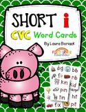Short i CVC Word Cards