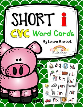 Short i CVC Word Cards
