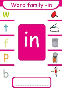 Short  i CVC  Word Families ( -ig, -in, -ip)