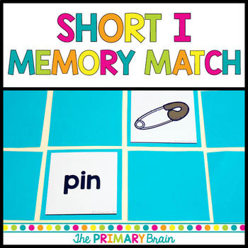 Short i CVC Word Memory Match Game