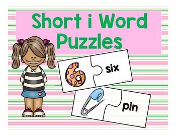 Short i CVC Word Puzzles