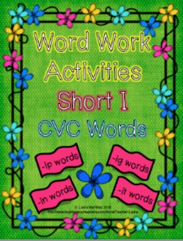 Short i CVC Word Work