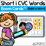 Short i CVC Words - Build a Word BOOM CARDS