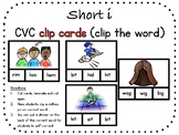 Short i, CVC clip carts (clip the word)