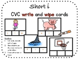 Short i, CVC write and wipe cards
