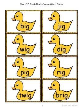 "Short ""i"" Duck-Duck-Goose Word Game"