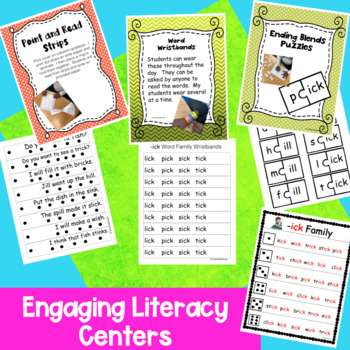 Short i Ending Blends -ill -ish -ink -ick -ing Hands-on Phonics Activities