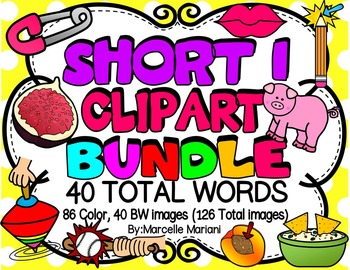 SHORT VOWEL I Clipart Bundle-CVC Clipart (40 WORDS- 126 IMAGES)