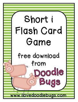 Short i Flash Card Game { Free Download }