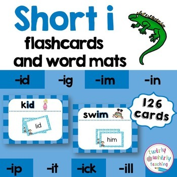 Short i Flashcards and Center Activities