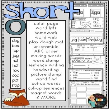 Short o Hands-on Spelling and Phonics