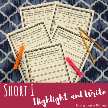 Short i - Highlight and Write