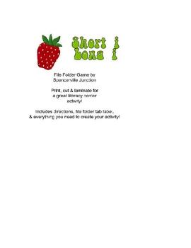 Short i Long i Strawberry File Folder Game