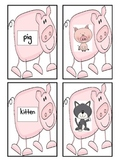 Short i Matching Game- Pig Theme