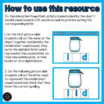 Short i Vowel - CVC Words Interactive PowerPoint