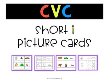 Short i Picture Cards