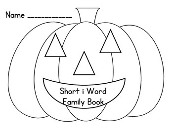 Short i Pumpkin Word Families