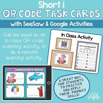 Short i QR Code Task Cards