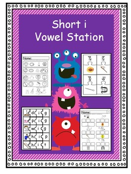 Short i Reading Centers and Worksheets