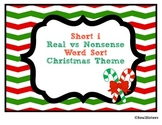Short i Real vs. Nonsense Word Sort and Tree Map - Christmas Theme