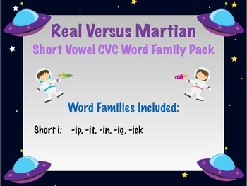 Short i - Real vs Nonsense words