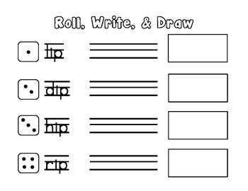 Short i Roll, Write, & Draw - CCSS Aligned  - Kindergarten