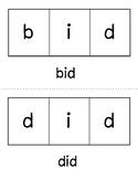 Short i Segmenting Word Cards