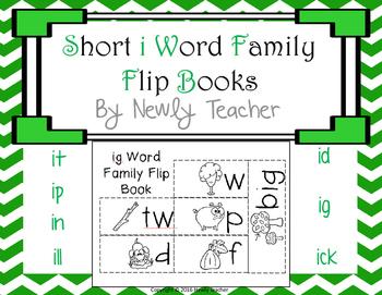 Short i Word Families Flip Books