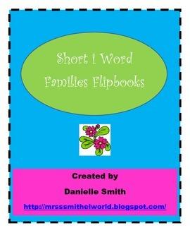 Short i Word Families Flipbook