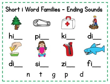 Short i Word Families - Promethean