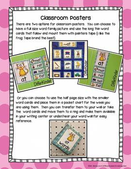 """Short """"i"""" Word Families Word Work Galore-Differentiated and Aligned"""