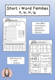 Short i Word Family (it, ig, ip, in) Worksheets