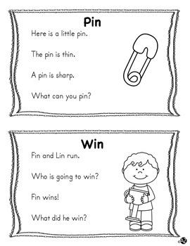 Word Family Short i Fluency