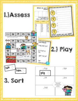 Short i Phonics Game and Word Sort