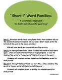 Short i Word Family Mini-Units: A Systematic Way to Scaffo