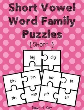 Short i Word Family Puzzles
