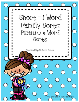 Short -i Word Family Sorts