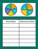 Short u Word Family Spinner Game (Real vs. Nonsense Words)