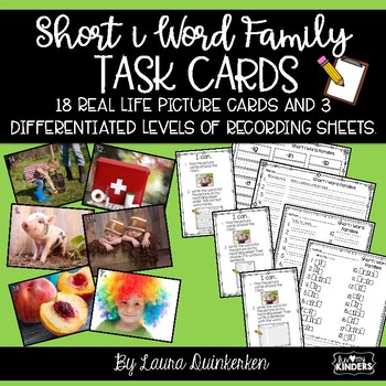Short i Word Family Task Cards Write The Room